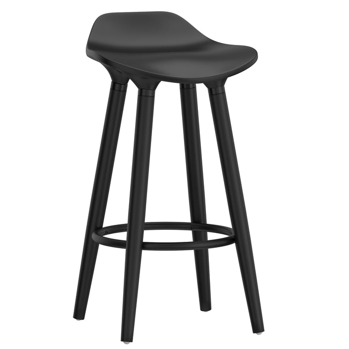 "TREX-26"" COUNTER STOOL-BLACK, SET OF 2"