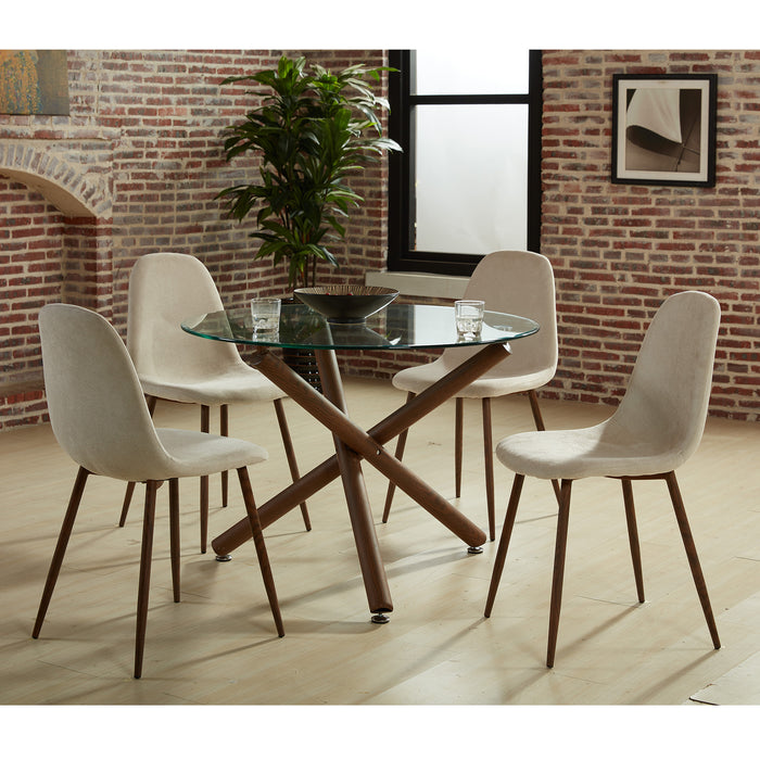 ROCCA/LYNA BG-5PC DINING SET