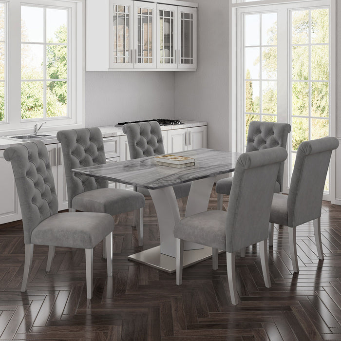 NAPOLI GY/CHLOE GY-7PC DINING SET