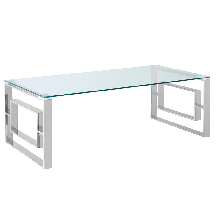 EROS-COFFEE TABLE-SILVER