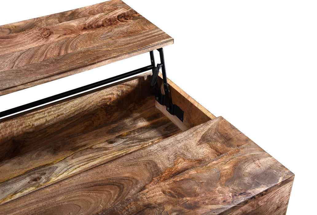 OJAS-LIFT-TOP COFFEE TABLE-NATURAL BURNT