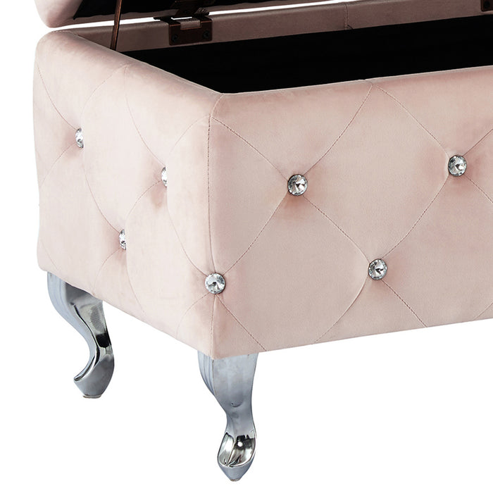 MONIQUE-STORAGE OTTOMAN-BLUSH PINK