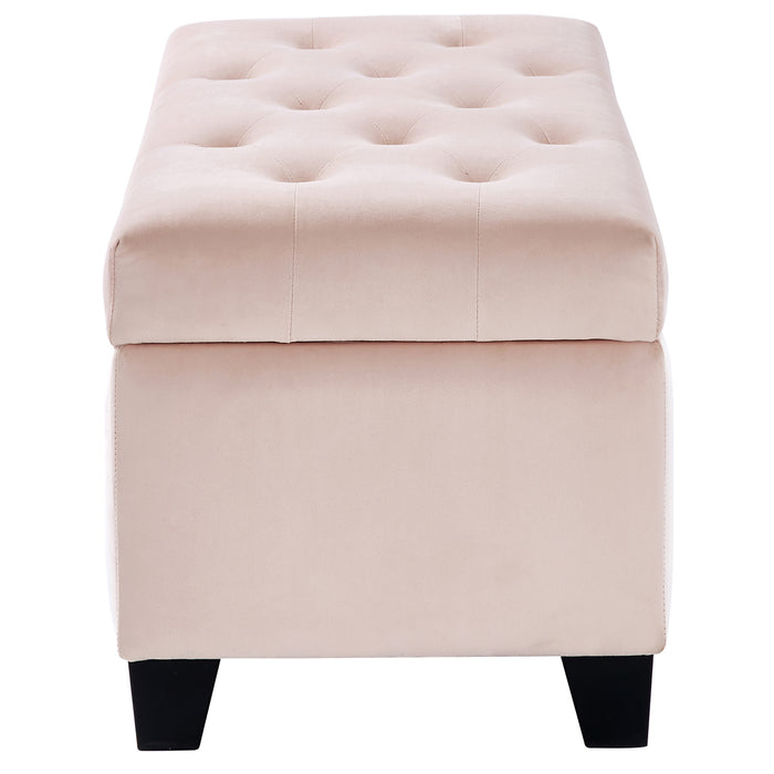 SALLY-STORAGE OTTOMAN-BLUSH PINK