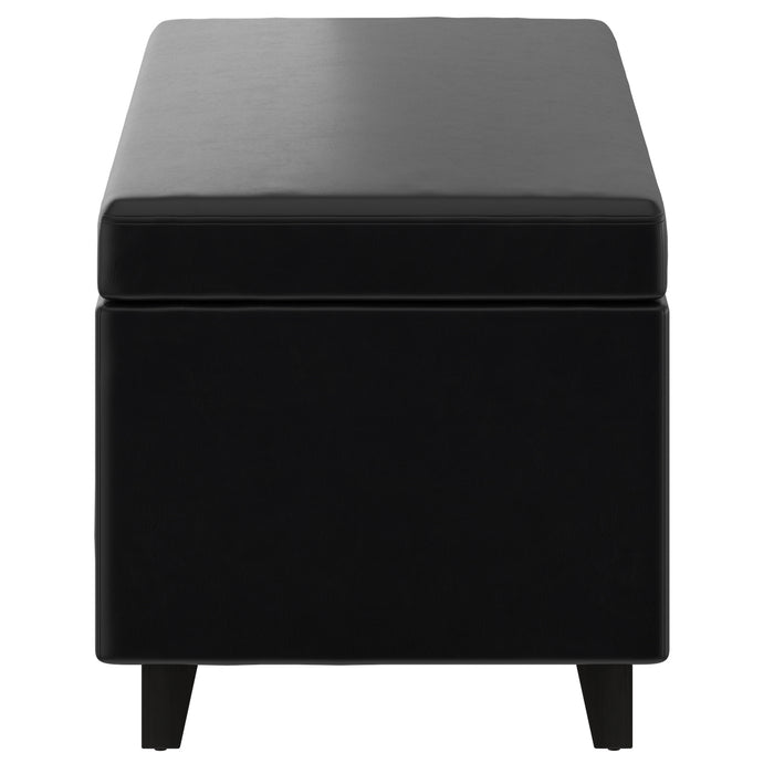 WYATT-LIFT-TOP COCKTAIL OTTOMAN-BLACK