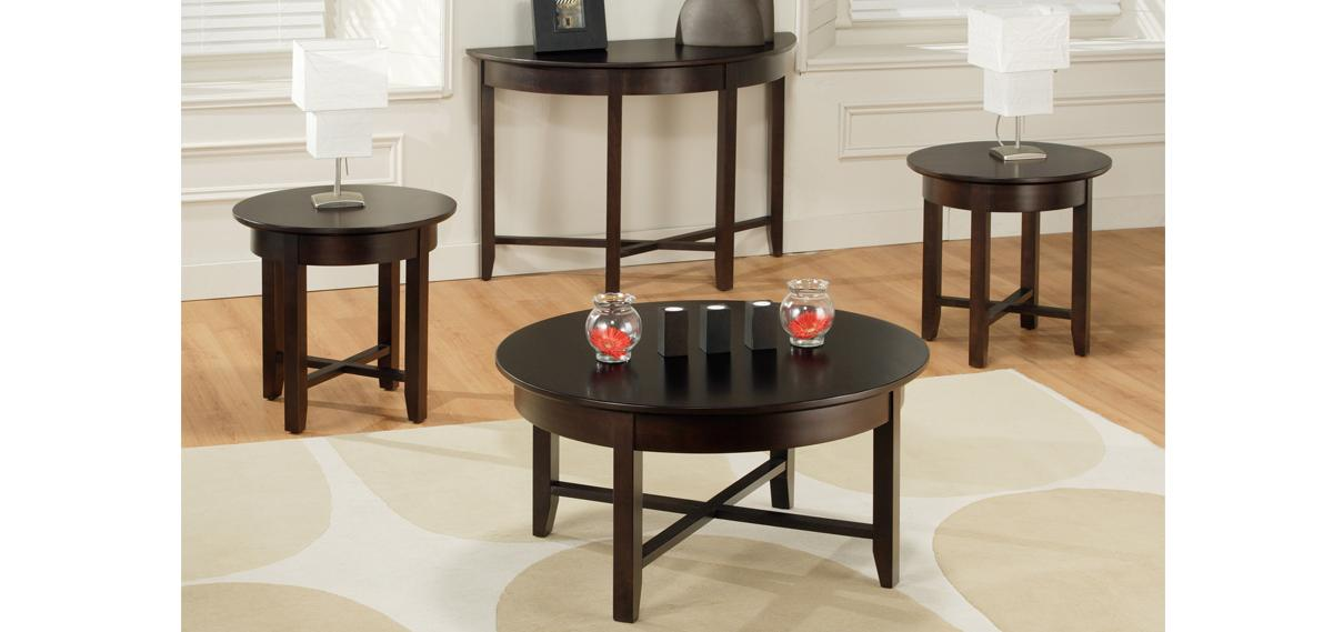 Demilune Elliptical Oval Glass Top Coffee Table
