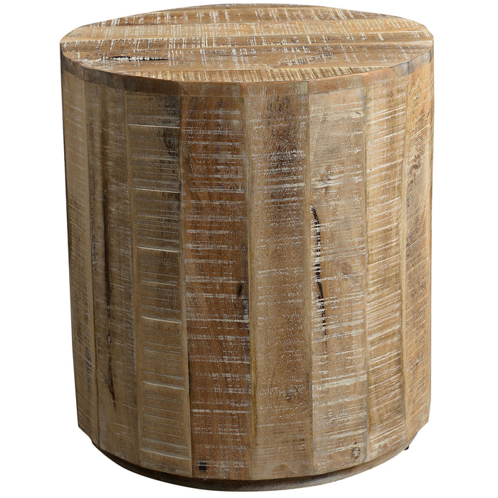 EVA-ACCENT TABLE-DISTRESSED NATURAL