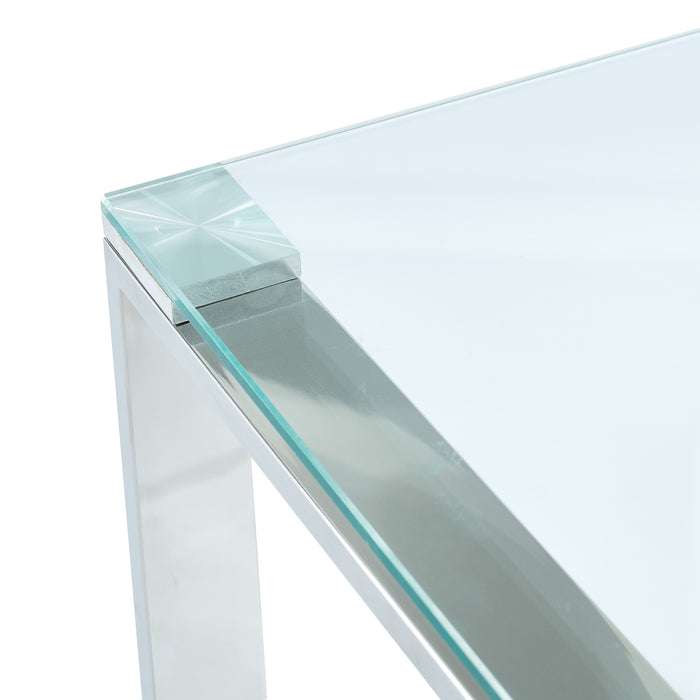 ZEVON-ACCENT TABLE-SILVER