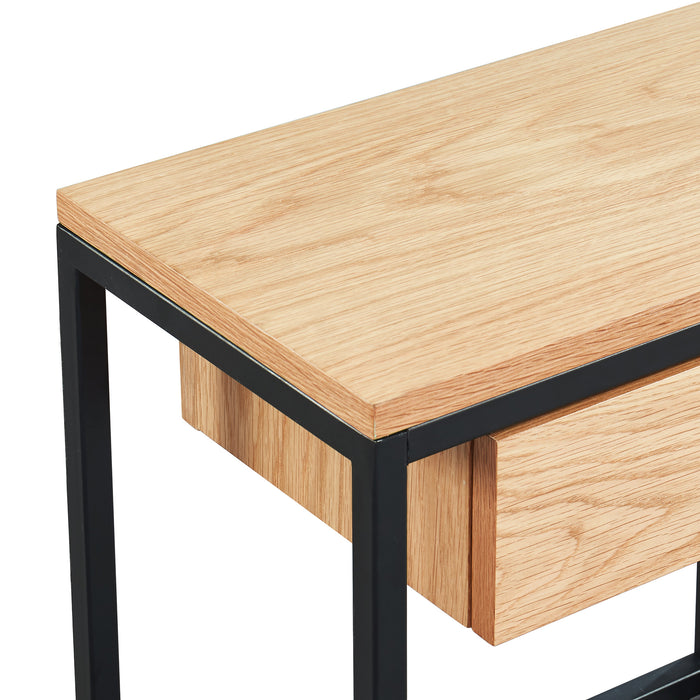 LANCE-ACCENT TABLE-OAK
