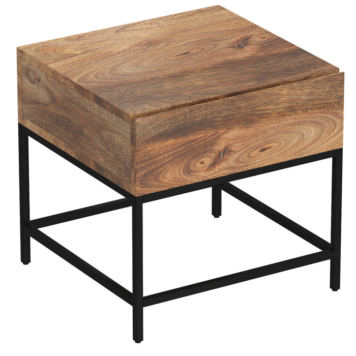 OJAS-ACCENT TABLE-NATURAL BURNT