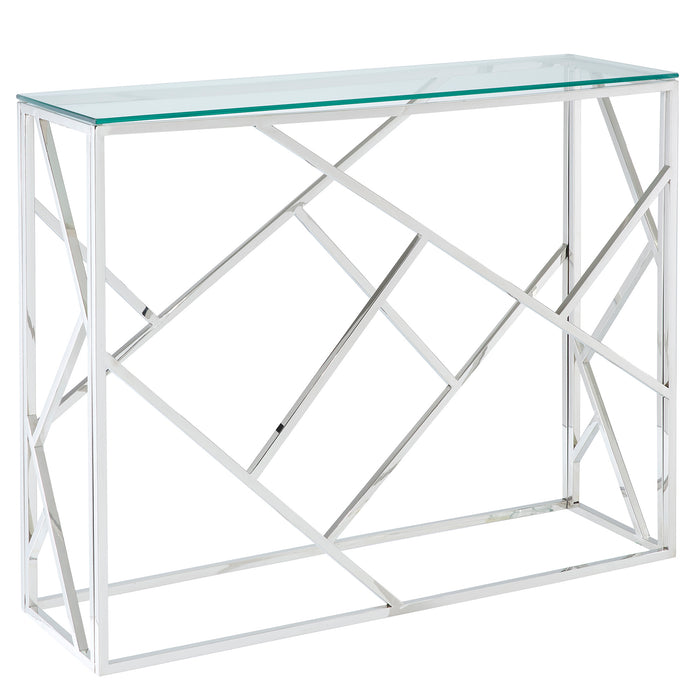 JUNIPER-CONSOLE TABLE-SILVER