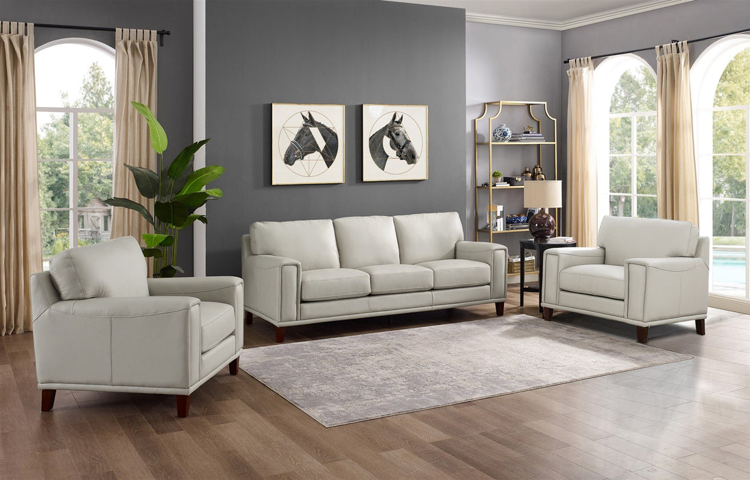 Harper Top-Grain Leather Sofa Set