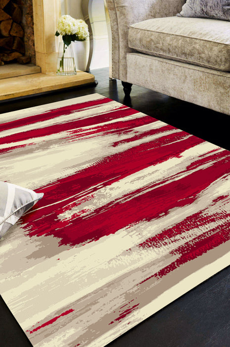 MERSIN HS126 CREAM/RED AREA RUG