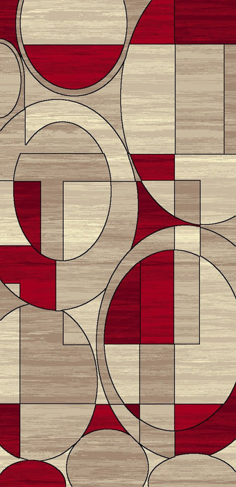 IBIZA CARVING G5057 CREAM/RED AREA RUG