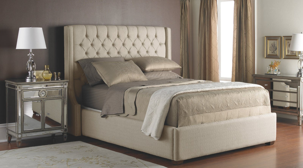 Leather Headboard & Base 90 - King Bed - Customizable