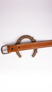 Double Stitched Buck Brown Belt