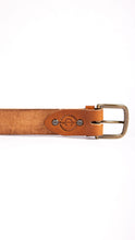 Load image into Gallery viewer, Double Stitched Buck Brown Belt