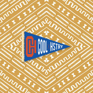 """CoolxHistory"" Pennant in Royal"