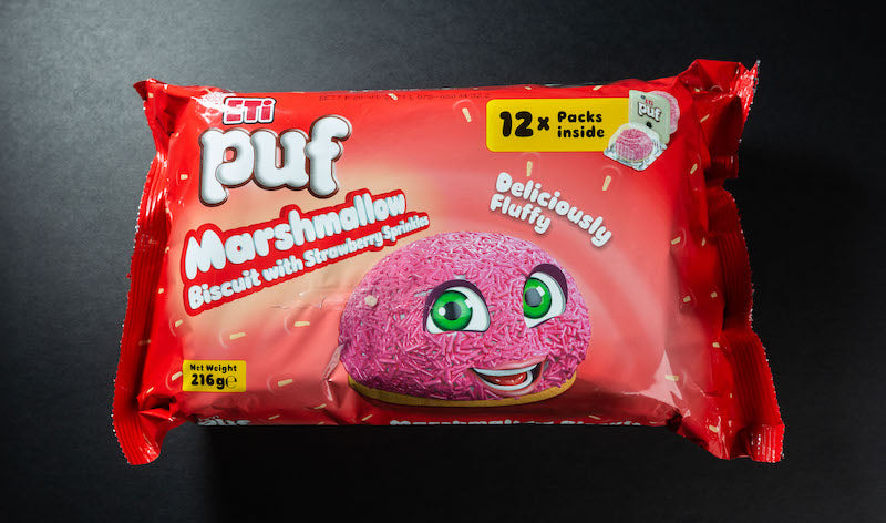 ETI Puf Marshmellow Biscuit with Strawberry