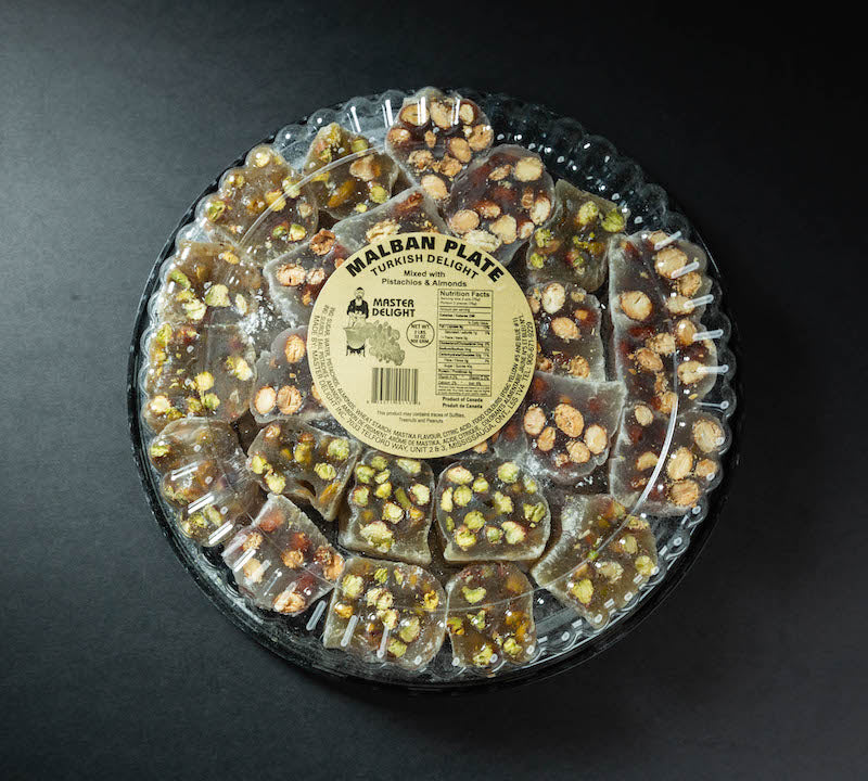 Malban Plate Turkish Delight Pistachios and Almond