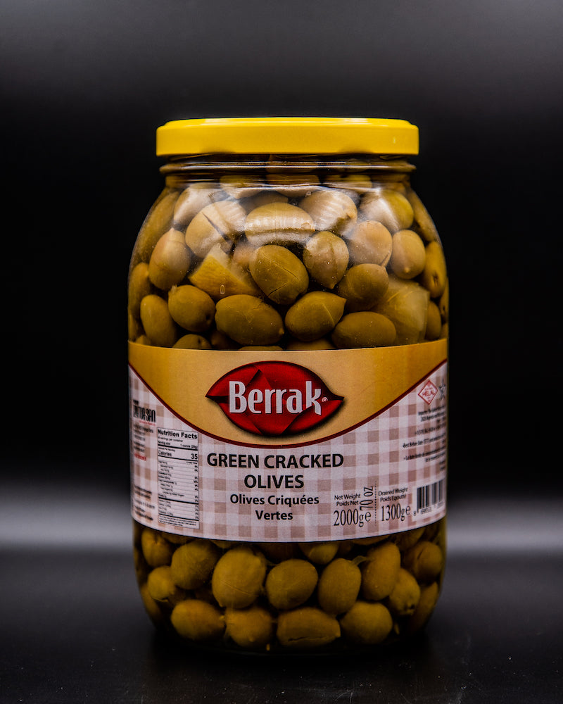 Berrak Green Cracked Olives