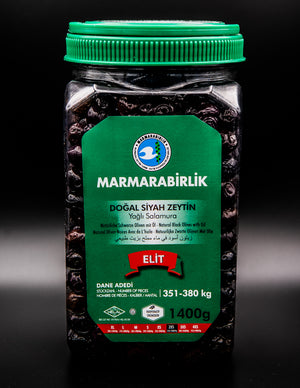 Marmarabirlik Natural Black Olives with Oil (2XS)