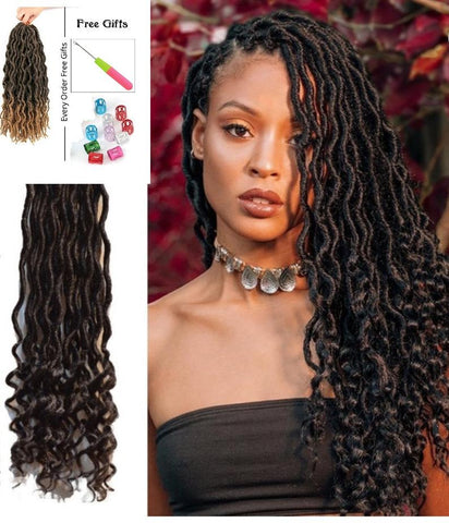 Goddess Faux Locs | Total Body UK| Pre- looped Crochet Hair Extension
