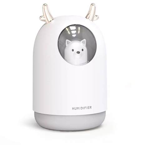 Mini White Or Pink Kids Baby Bear Humidifier And Night Light - Lighting.co.za