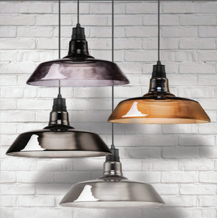 BARN INDUSTRIAL CLEAR | AMBER | SMOKE GLASS PENDANT - Lighting.co.za