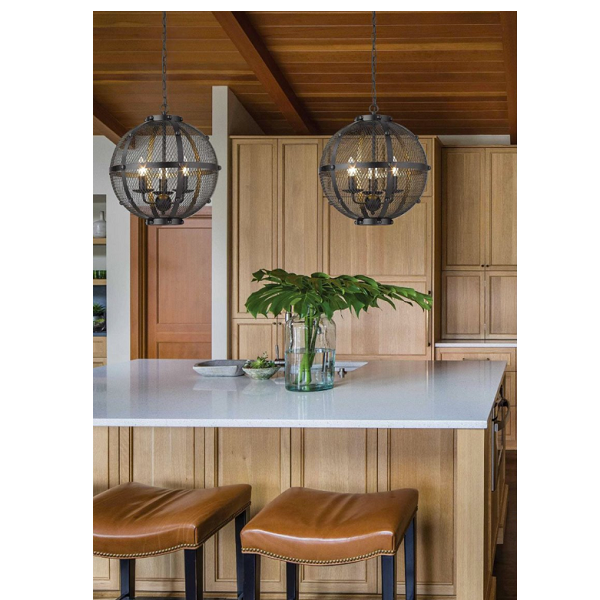 Saville Orb Black Mesh Pendant Light - Lighting.co.za