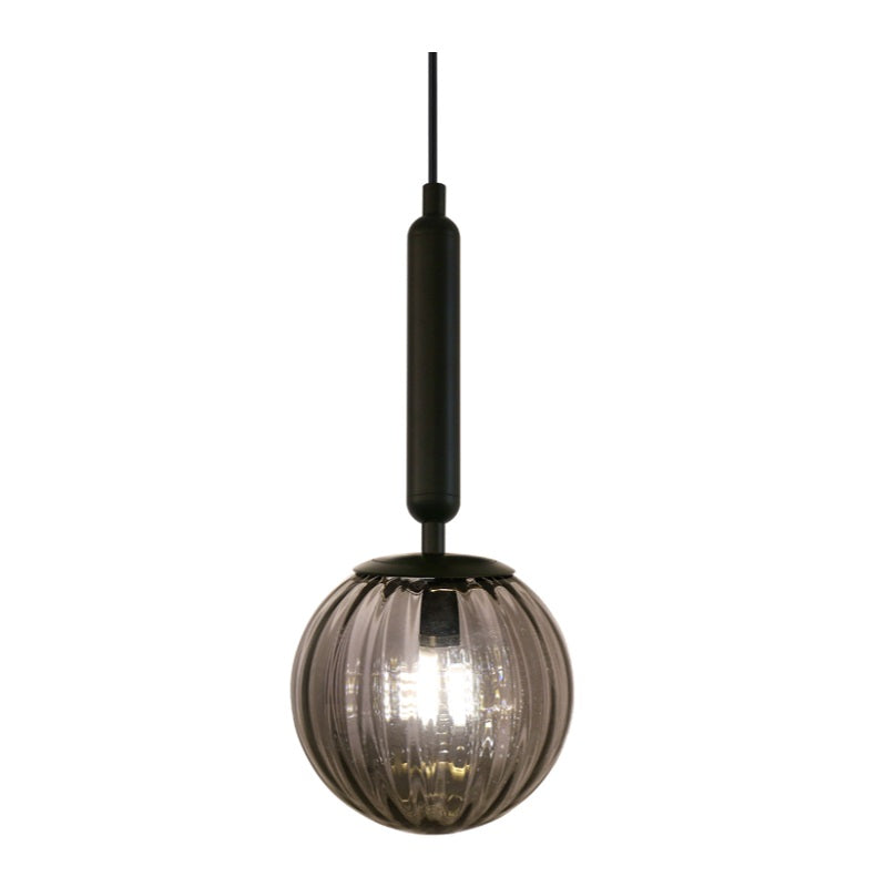 Milano Black or Antique Brass with Clear | Smoke Glass Pendant Light - Lighting.co.za