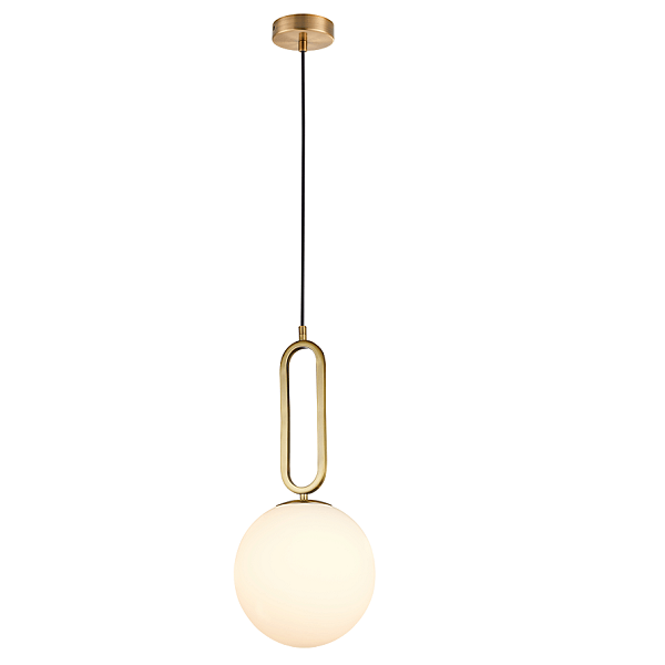 CROQUET ANTIQUE BRASS AND FROSTED GLASS PENDANT RANGE 3 SIZES - Lighting.co.za