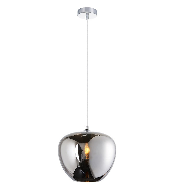 Apple Amber | Smoke Glass Pendant Light 2 Sizes - Lighting.co.za