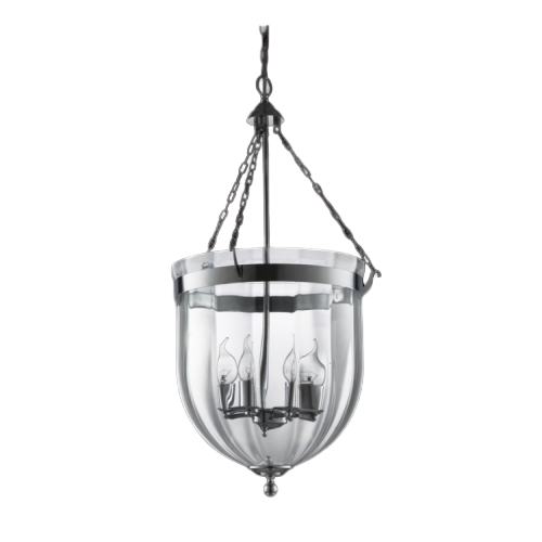 Bow Trip Clear Beveled Glass And Chrome Pendant Light - Lighting.co.za