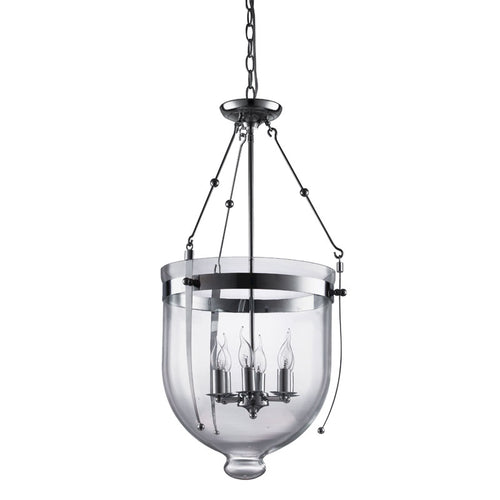 Bow Float Clear Glass And Chrome Pendant Light - Lighting.co.za