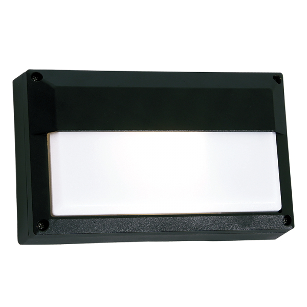 Link Black Rectangular Outdoor Wall Light - Lighting.co.za