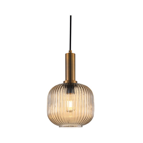 Bonura Clear | Amber | Smoke Cut Glass Pendant Light - Lighting.co.za
