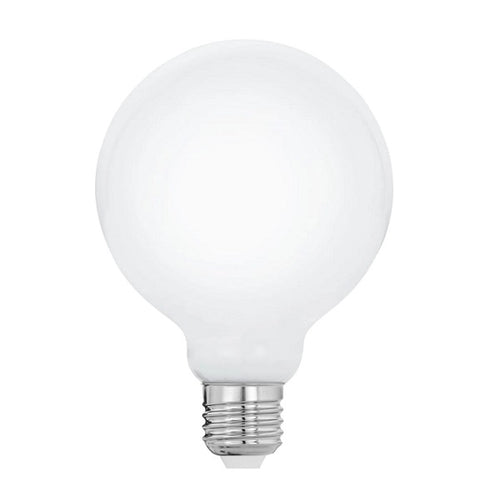 E27 G125 Halogen Opal Bulb Dim B - Lighting.co.za