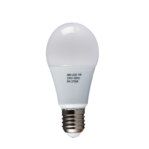 E27 A60 LED Opal 9W 2700K | 4000K Non Dim B - Lighting.co.za