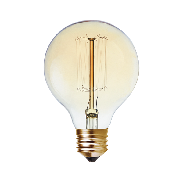 E27 G80 Carbon Filament Amber Bulb B - Lighting.co.za