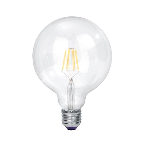 E27 G125 Clear LED Filament 9W 4000K Dim B - Lighting.co.za