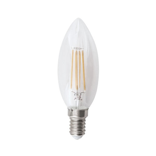 E14 Clear Candle LED Filament 4.5W 2700K | 4000K Dim B - Lighting.co.za