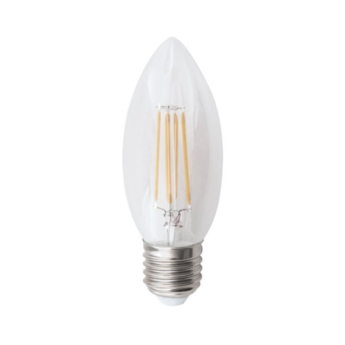 E27 Clear Candle LED Filament 4.5W 2700K | 4000K Dim B - Lighting.co.za