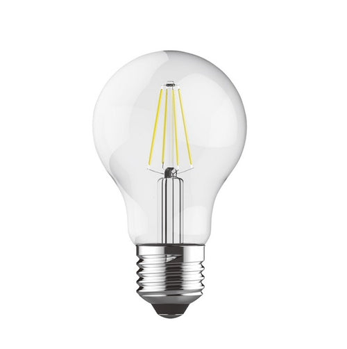 E27 LED A60 Clear Bulb 8W 2700K | 4000K Dim B - Lighting.co.za