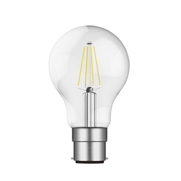 B22 LED A60 Clear Bulb 8W 2700K | 4000K Dimmable B - Lighting.co.za