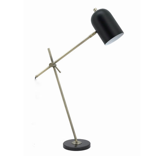 Bella Tall Black and Antique Brass Adjustable Desk Lamp - Lighting.co.za