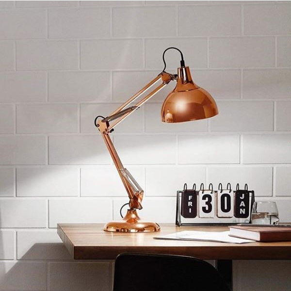 Borgillio Copper Or Black Adjustable Desk Lamp - Lighting.co.za