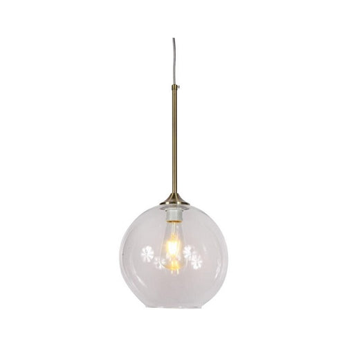 Bowie Clear Glass And Brass Pendant Light - Lighting.co.za