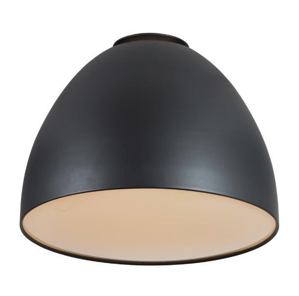 Ascari LED Black Dome Ceiling Light Available In 2 Sizes - Lighting.co.za