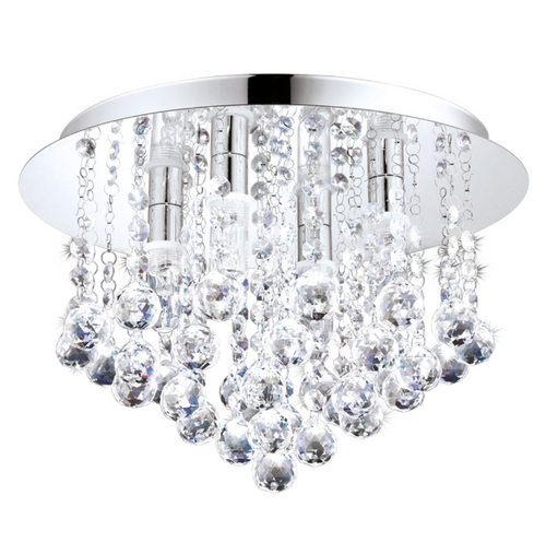 Almonte LED Chrome And Clear Glass Bathroom Ceiling Light - Lighting.co.za