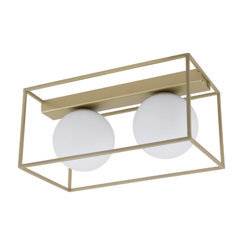 VALLASPRA GOLD AND WHITE GLASS CEILING LIGHT 2 SIZES - Lighting.co.za